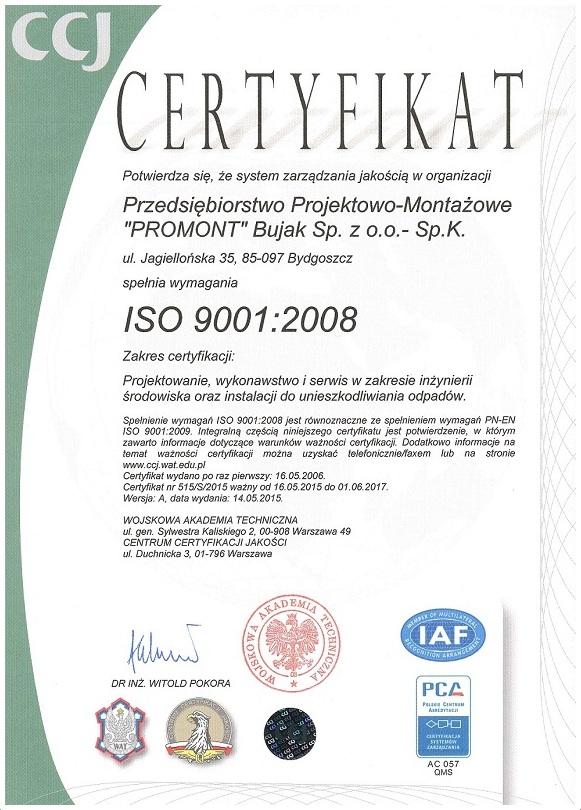 Jakość - certyfikat